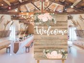 Wedding Welcome  -  Extra Large  Metal Wall Sign (1)